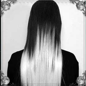 Черно-белые волосы