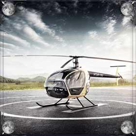 Горящий вертолет