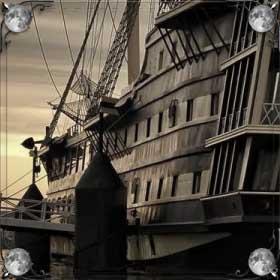 Корабль на реке