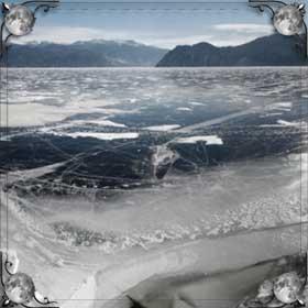 Лед в озере