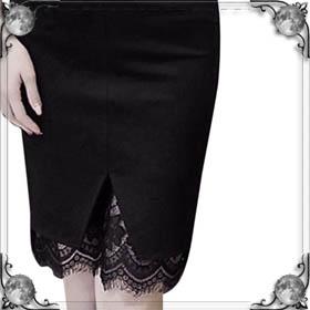 Мерить длинную юбку