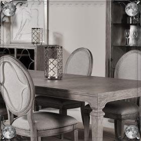 Накрытый стол с едой
