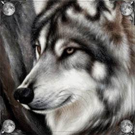 Огромный волк