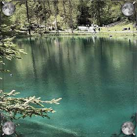 Озеро с рыбой