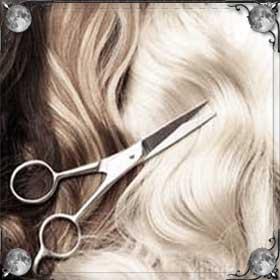 Парикмахер и волосы