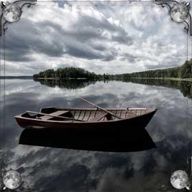 Плыть на лодке по реке