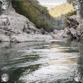 Река с обрывом