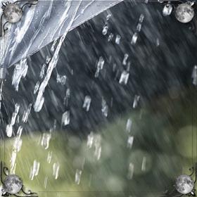 Сильный дождь и гроза