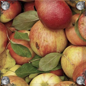 Желто-красные яблоки